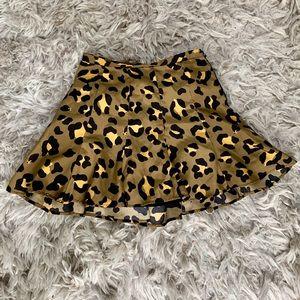 Olive Colored Cheetah Print Skirt